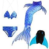 Das beste Mädchen Bikini Badeanzüge Schönere Meerjungfrauenschwanz Zum Schwimmen mit Meerjungfrau Flosse Schwimmen Kostüm Schwanzflosse - Ein Mädchentraum- Gr. 120, Farbe: A05(2)