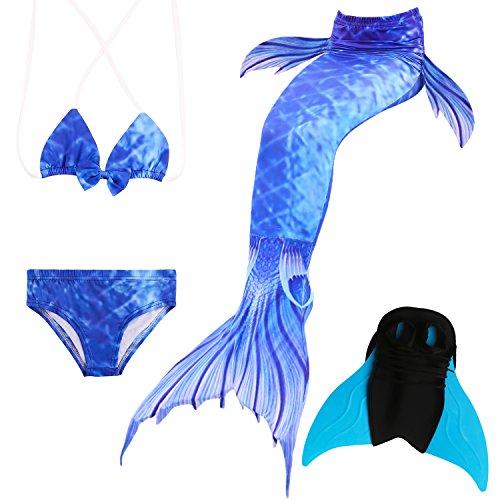 Das beste Mädchen Bikini Badeanzüge Schönere Meerjungfrauenschwanz Zum Schwimmen mit Meerjungfrau Flosse Schwimmen Kostüm Schwanzflosse - Ein Mädchentraum- Gr. 130, Farbe: ()