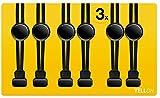 YELLOH 3 Paar Schnürsenkel Schnellverschluss Markenprodukt Elastische Schnürsenke Komfort für die Füße Ohne Binden Kinder Erwachsene Schnellverschluss Schuhe Schwarz Schleifenlos