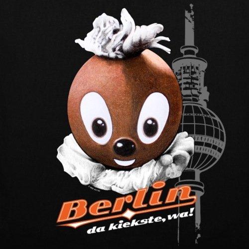 Spreadshirt Pittiplatsch Da Kiekste Wa Berlin Stoffbeutel Schwarz