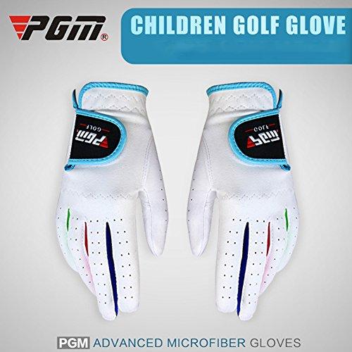 Lan Golf Handschuhe 1 Paar Kinder Unisex Golf Handschuhe Atmungsaktiv Links/Rechts Hand Anti Rutsch Handschuh