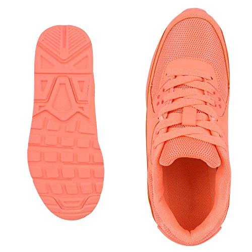 Japado–Chaussures de gymnastique basses femme Pêche