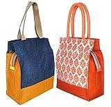 #7: foonty pack of 2 jute lunch bags/multipurpose bags