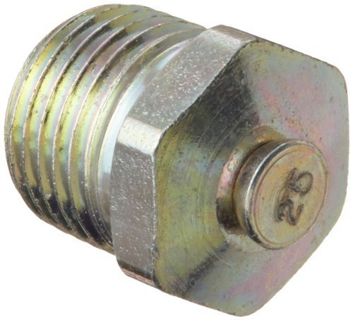 """Alemite 323060 Pressure Relief Fitting, Straight, 15 - 25 psi Relief Pressure, OAL 1/2"""", Shank Length 19/64"""", Hex Size 7/16"""", 1/8"""" PTF SAE by Alemite"""