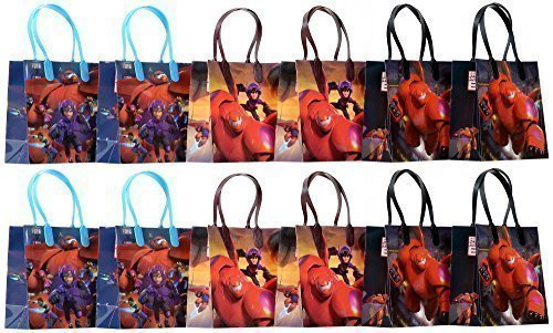 Disney Big Hero 6 Party Favor Goodie Gift Bag - 6 Small Size (12 Packs) by GoodyPlus