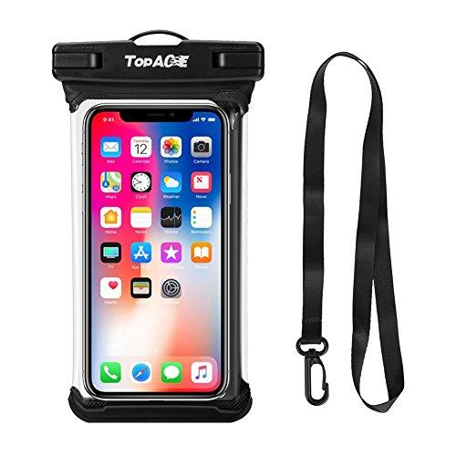 TOPACE wasserdichte Handytasche Handyhülle, Universal Handy wasserdichte Hülle für iPhone 11 Pro Max/Samsung Galaxy Note 10 Plus/A50/A40/A70/iPhone XS Max/XR/S10 Plus Weniger als 6,8 Zoll Smartphone
