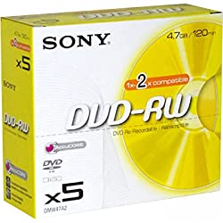 Sony Dvd+rw (4x Speed) 5pk