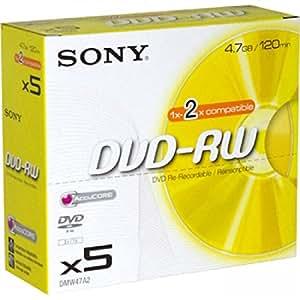 Sony DVD+RW (4X Speed) 5pk