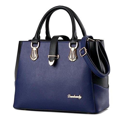 HQYSS Damen-handtaschen Simple Mode neue Flut Handtasche Umhängetasche Messenger Bag blue