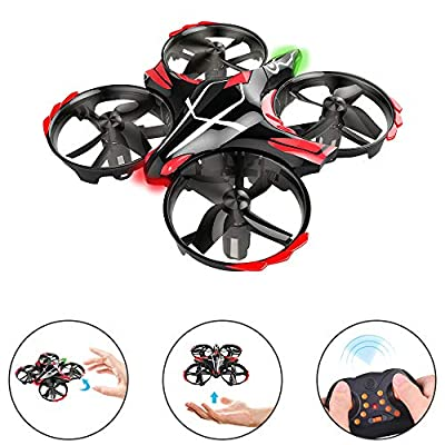 GEEKERA Mini Drone for Children, 2019 New Kids Drone Flying Toy UFO Helicopter with Gesture Controlled Remote Controlled Toss Shake Takeoff Protection Gifts for Boys Girls Teenagers Beginners by Geekera