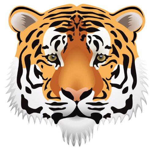 Michael & Rene Pflüger Barmstedt 8 x 8 cm - Konturschnitt - Autoaufkleber Sticker Tiger Kopf Aufkleber Sticker fürs Auto Motorrad Handy Laptop Tiger Aufkleber