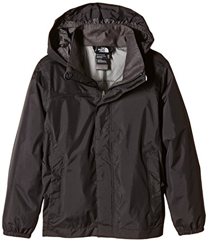 THE NORTH FACE Jungen Jacke B Resolve Reflective Jacket Regenjacke, TNF Black, L -