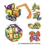 Goolsky 78 Piezas Bloques de Construcción Magnética Bloques de Construcción Bloques de 3D Construcción de Azulejos