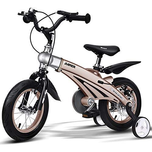 d der Magnesiumlegierungs-Kinder 5-6-10-12 Jahre alte Junge und Mädchen-Doppelscheibenbremsen 16-Zoll-bewegliches Studentenfahrrad ()