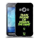 Head Case Designs Train Insane Fitness Motivation Soft Gel Hülle für Samsung Galaxy Xcover 3