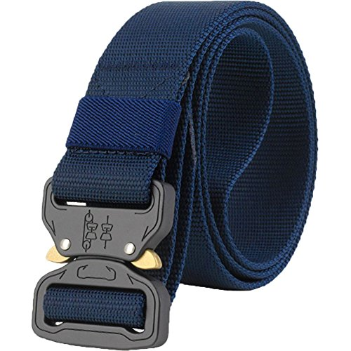 "ALAIX Adjustable Cobra Tactical Belt Strong Heavy-Duty Quick-Release Big and Tall 1.5"" wide Darkblue"