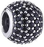 Pandora Damen-Charm 925 Sterling Silber Zirkonia schwarz 791051NCK