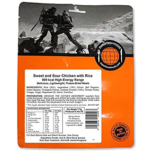 Expedition Foods Hähnchen süss-sauer mit Reis (High Energy Serving)