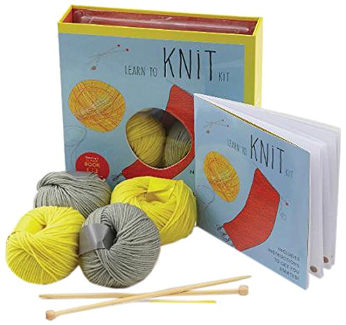 Learn Knit Kit Scarf Featuring Instructions