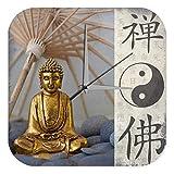 Horloge murale Eglise Yin Yang Bouddha Publicité Imprimee Plexiglas