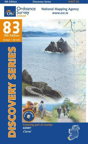 Irish Discovery Series 83. Kerry 1 : 50 000 Aktiv-serie