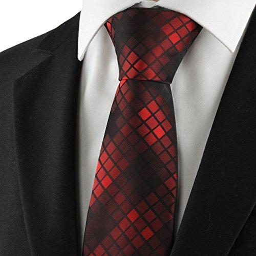 Diamant-Muster-Rot Blau Schwarz Mens Tie Formal Suit Krawatte Hochzeits-Geschenk (Diamant-muster-krawatte)