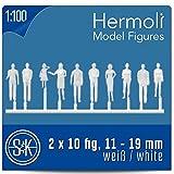 20 Modell Figuren weiß / unbemalt 1:100 (ca. Spur TT)