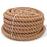 vidaXL Seil 100% Jute 40mm 30m Naturhanf Hanfseil Tauwerk Juteseil Tau Seil
