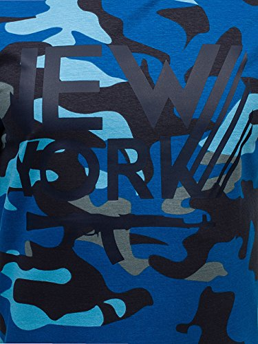 BOLF - Felpa - Manica lunga - Longsleeve - Classic - Motivo - 1A1 Blu