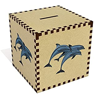 Azeeda Large 'Jumping Dolphins' Money Box / Piggy Bank (MB00065612)