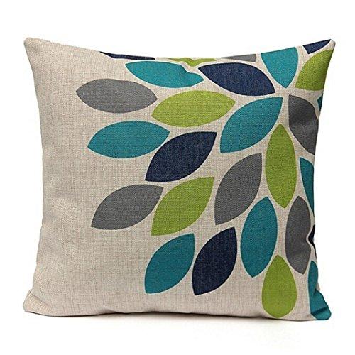 Almohada de tótem cuadrado,Subfamily®Decoración para el Hogar Lino Impreso Cintura Throw Pillow Case Sofa Car Cushion (White)
