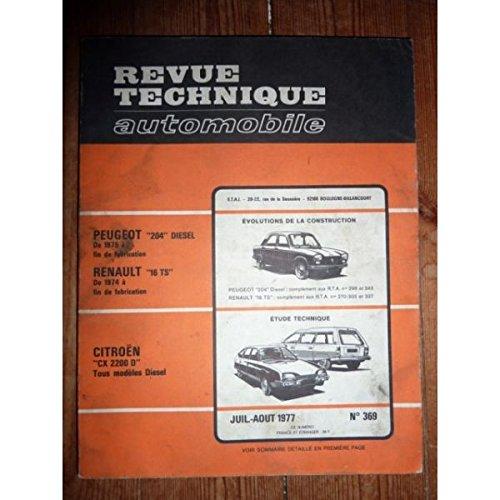 RTA0369 - REVUE TECHNIQUE AUTOMOBILE CITROEN CX 2200 D Tous modèles Diesel