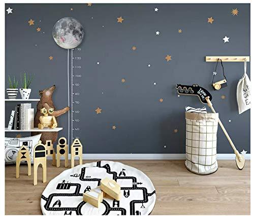Fototapeten Wand Tapete SchlafzimmerNordic Einfache Cartoon Bär Mond Mess Höhe Kinderzimmer Hintergrund Wand, 350 Cm X 245 Cm (137,8 Von 96,5 In) (Wand Mess Höhe -)