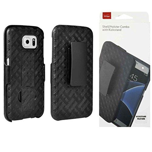 Verizon OEM Shell Holster Stand Combo für Samsung Galaxy S6-Schwarz