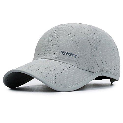 Basecap Sommer Mesh Schnell Trocknende Atmungsaktive Kappe Hut Mode für Damen Herren Kinder Mädchen Jungen Baseball Kappe Mütze Schwarz Weiß Beige XXL Sonnenkappe für Golf Sports ()