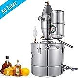 InLoveArts Acqua Distillatore Alcool in Acciaio Inox, Bollitore per la vinificazione con termometro Viene utilizzato per produrre Vino di Frutta, Acqua distillata.