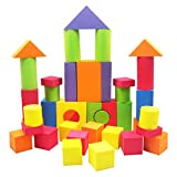 #1: Vibgyor Vibes™ Non Toxic EVA Foam 65 Pieces Building Block, Soft and Safe For Kids, With alphabets and Numbers on Blocks ,Educational Toy for Toddlers