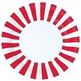 12 runde Party Pappteller in Rot/Weiß von Paper Eskimo