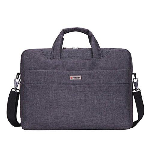 MojiDecor Laptoptasche Wasserdicht Handtasche Umhängetasche Aktentasche Stoßfest Notebooktasche für 38,1-39,6 cm(15-15,6 Zoll) Laptop Notebook Computer MacBook (15 inch, dunkel grau) (Notebook-handtasche)