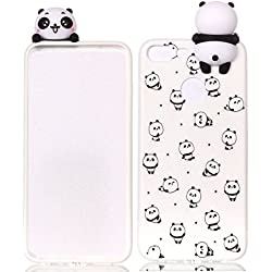 HopMore Funda Huawei Honor 9 Lite Silicona Motivo 3D Divertidas TPU Gel One Piece Kawaii Original Ultrafina Slim Case Antigolpes Caso Protección Flexible Cover Design Gracioso para Huawei Honor 9 Lite - Panda Lindos