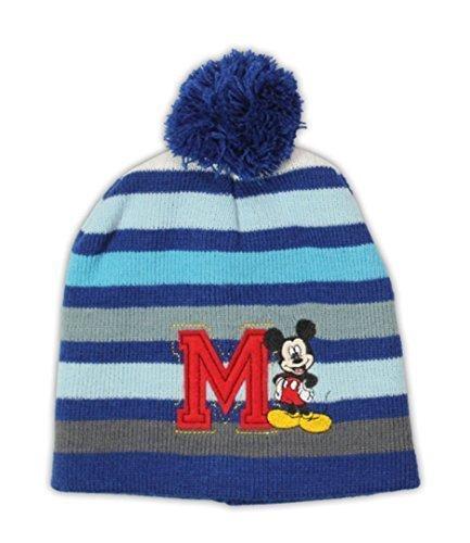 Disney Mickey Mouse Pom Pom Mütze Blau Eine Größe 4-8 Jahre (Mickey Mouse Mützen)