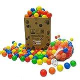 400 Stück 6cm Bälle für Kinder Bällebad Babybälle Plastikbälle ohne...
