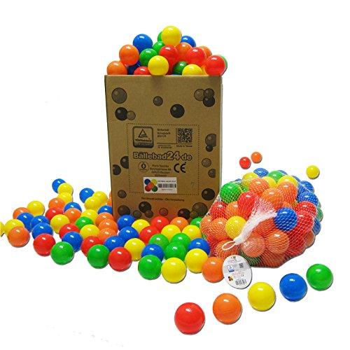 Koenig-Tom 200 x Bälle Bällebad Babybälle Plastikbälle Kinderbälle (TÜV zertifiziert = fortlaufende Prüfungen seit 2012)