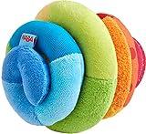 HABA 305090, Stoffball Spirale, Stoffspielzeug mit Rassel-Effekt, farbenfroher Ball für Babys ab 6 Monaten, tolles Geschenk zur Geburt und Taufe