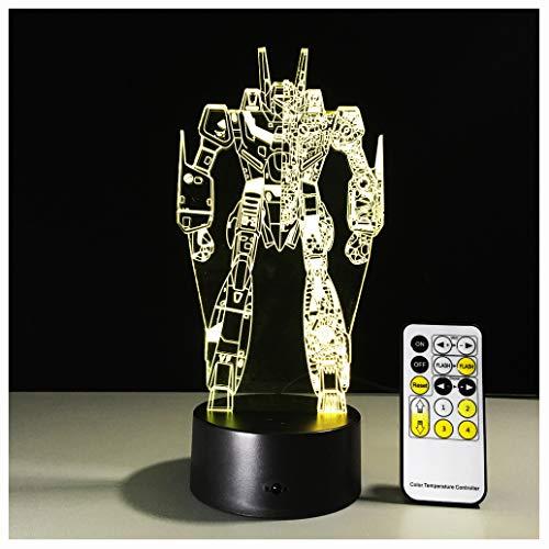 Star Wars LED ZNZ Illusion Lumineuse Lumineuse Pièce pour Enfant Bande Dessinée Anime Petite Lampe de Table USB Sensation de Charge Toucher Sept Couleurs Veilleuse (25-32),32