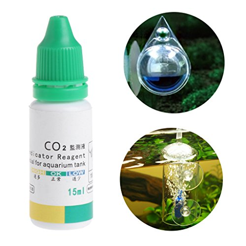 ECMQ Aquarium CO2 Indikator Lösung, Aquarium Liquid Test Plants liefert langfristige