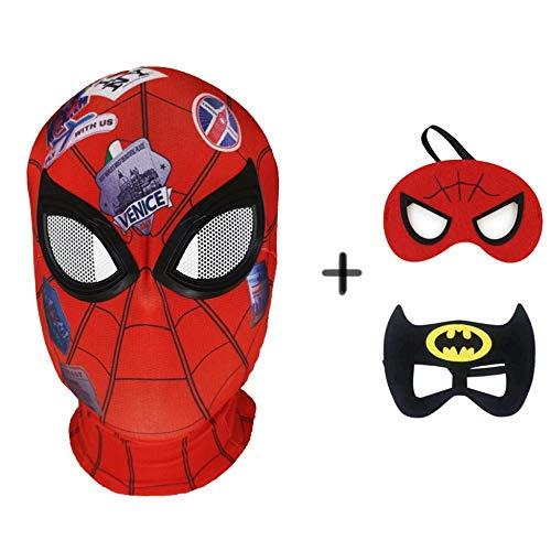 Mann Batman Kostüm Im Alter - BGHKFF Spiderman Masken Mottoparty Helm Halloween Maske Cosplay Hüte Kopfbedeckung Karneval Schminke Zubehör(3 Pcs)