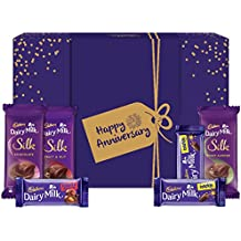 Cadbury Assorted Chocolates Gift Box with Happy Anniversary Messaging Sleeve, 278 gm