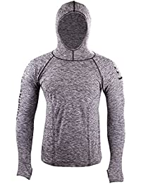 Compressport - 3D Thermo Seamless Hoodie, color gris, talla L