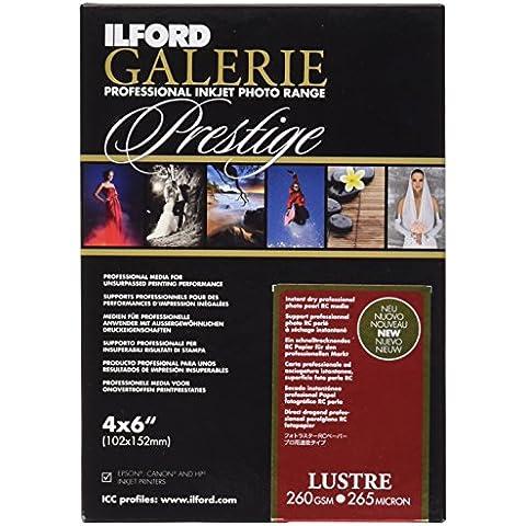 Ilford Prestige Lustre-Carta fotografica, 260 g, 10 x 15, confezione da 100 fogli